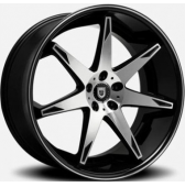Диски Lexani R14 22x9 5x120 Black/Machined купить