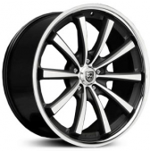 Диски Lexani CVX55 20x10,5 5x120 Gloss Black/Machined/Chrome Lip купить