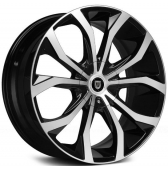 Диски Lexani Lust 17x7,5 5x108 5x114,3 Black/Machined купить