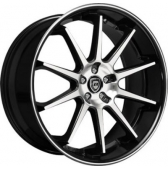 Диски Lexani R10 22x10 5x112 Black/Machined купить